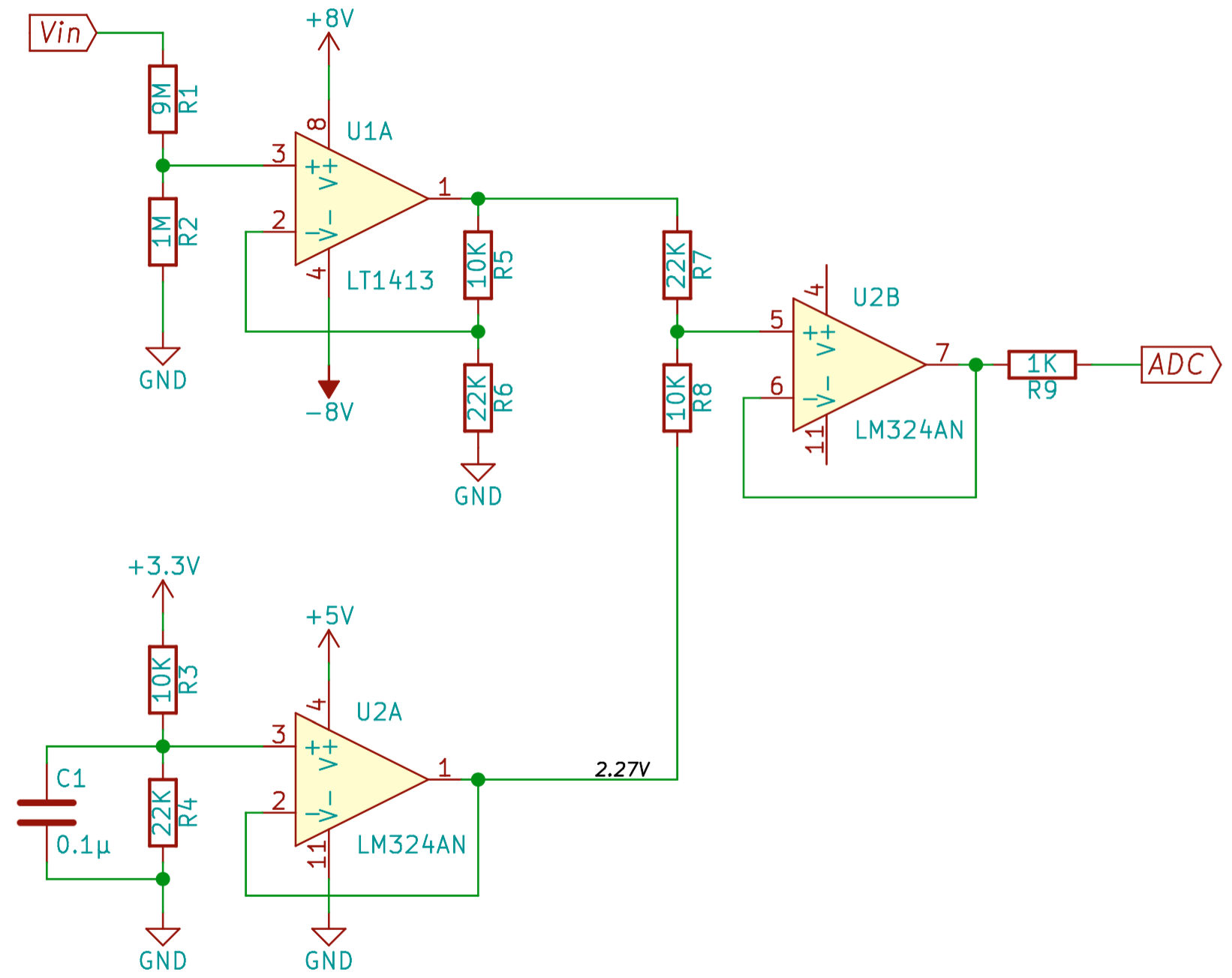 Articles On Jeelabs Simple Parking Sensor Using Lm324 The St232c Chip Was Mounted In A Free Spot With 4x 01f Caps Needed To Make It Generate About 9v Heres Corresponding Circuit