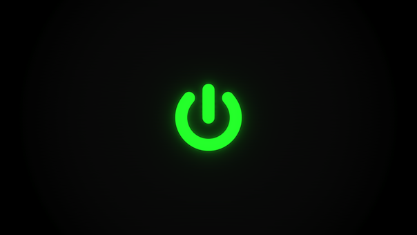 wallpaper power symbol green