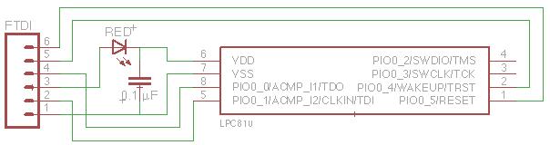 NXP LPC810 minimal circuit