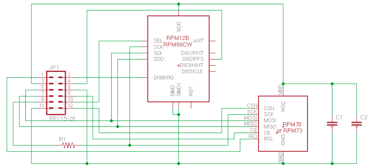 RasPi RF schematic and PCB » JeeLabs