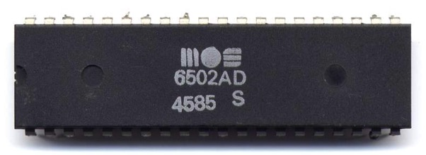 MOS 6502AD 4585 top
